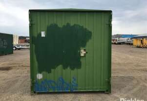 20ft Steel Shipping Container, Green, Site Shed Converted,Side Doors, Kitchenette, No Keys,