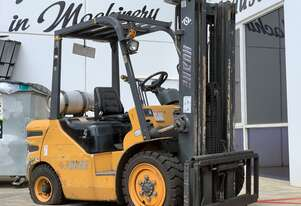 3500Kg Dual Fuel Ride On Forklift - Container Mast -   Needs Drive Train Repair - 4 x New Tyres