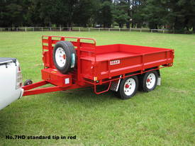 No7HD Tandem Axle Hydraulic Tip Utility Trailer  - picture2' - Click to enlarge