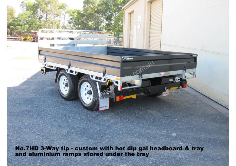 No7HD Tandem Axle Hydraulic Tip Utility Trailer