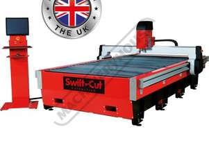 Swiftcut 3000WT MK4 CNC Plasma Cutting Table Water Tray System, Hypertherm Powerma 85 Cuts up to 20m