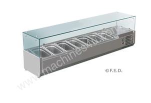 F.E.D. VRX1800/380 DELUXE Pizza / Sandwich Bar Prep Top - 1800mm
