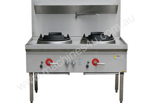 Two Hole Wok Table 24 Jet Chimney Burner