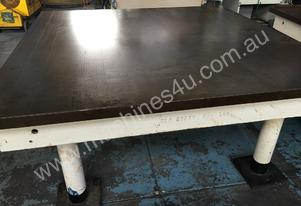 Cast Iron Surface Table, Solid 6ft x 6ft