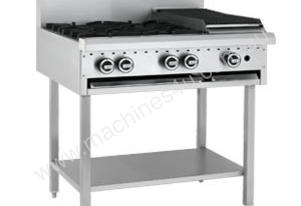 Luus Model BCH-6B3P - 6 Burners, 300 Grill and Shelf