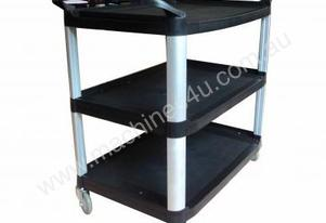 Safco S-91250 Black 3 Tier Foodservice Cart