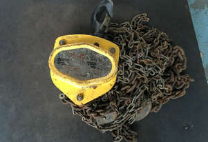 Chain Hoist 2 ton x 3 meter drop lifting 2000kg Block and Tackle Tuffy