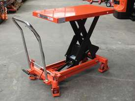 1T Hydraulic scissor lift table/trolley - picture2' - Click to enlarge