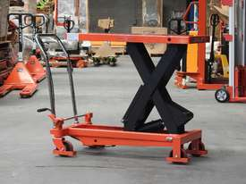 1T Hydraulic scissor lift table/trolley - picture3' - Click to enlarge