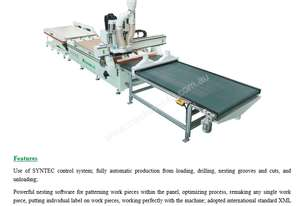 NANXING Auto Load Drilling Nesting Grooves Cutting & Unloading CNC Machine NCG2513L 2500*1250mm