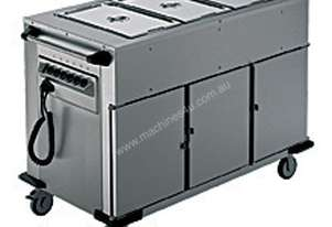 Rieber NORM-III-3 - Bain Marie Top 3 x Heated Cabinets Mobile Food Transport Trolley