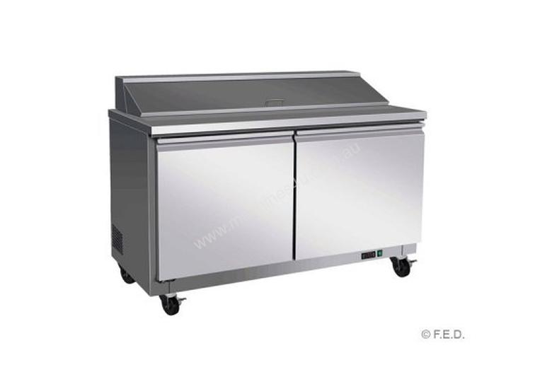 F.E.D. TSSU60 Tropicalised Two Door Pizza Prep Fridge