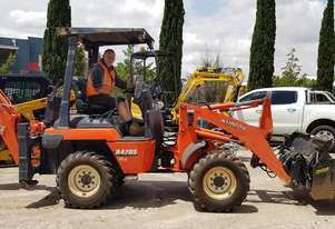 KUBOTA R420S WHEEL LOADER WITH BACKHOE ATTACHMENT