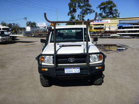 2010 Toyota Landcruiser Workmate (VDJ79R) V8 4x4 Tray Back Utility - In Auction - picture1' - Click to enlarge