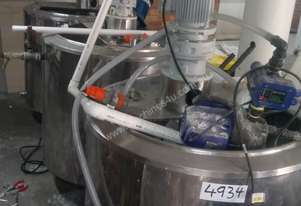 Stainless Steel Jacketed Mixing Tanks 500L