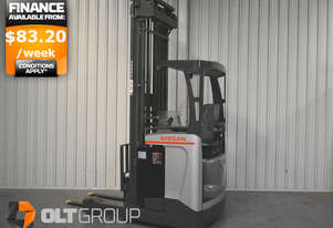 Nissan High Lift Ride Reach Truck 7.95m Mast 2 Tonne Forklift Suit Warehouse Environment Low Hours