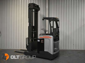 Nissan High Lift Ride Reach Truck 7.95m Mast 2 Tonne Forklift Suit Warehouse Environment Low Hours - picture0' - Click to enlarge