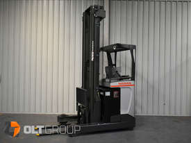 Nissan High Lift Ride Reach Truck 7.95m Mast 2 Tonne Forklift Suit Warehouse Environment Low Hours - picture1' - Click to enlarge
