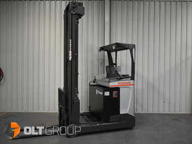 Nissan High Lift Ride Reach Truck 7.95m Mast 2 Tonne Forklift Suit Warehouse Environment Low Hours - picture2' - Click to enlarge