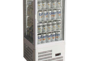 TCBD78W Four-Sided Countertop Display Fridge White