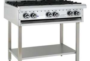 6 Burner Cooktop with legs & shelf