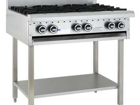 6 Burner Cooktop with legs & shelf - picture0' - Click to enlarge
