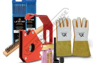 TSPT3 T3 Tig Welder Starter Pack Consumables Suit T3 Tig Torch Includes 1.6mm & 2.4mm electrodes & C