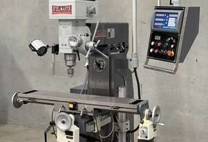 Industrial Built 240Volt Universal Milling Machine With ISO40 Spindle & 3 Axis Digital Read Out