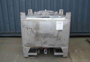 Stainless Steel Container Tank - 1000L