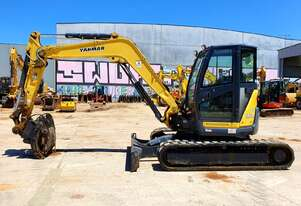 YANMAR VIO80-1 EXCAVATOR WITH LOW 2242 HOURS, FULL SET OF BUCKETS AND RIPPER
