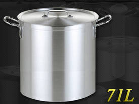 71L COMMERCIAL STAINLESS STEEL STOCK POT