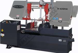 H-420HA-NC NC Double Column Metal Cutting Band Saw - Automatic Hitch Feed Includes Inverter Variable