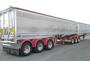 2014 LUSTY EMS 25M B DOUBLE ALUMINIUM TIPPERS