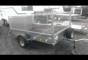 new ifor 8*5 single axle box trailer with cage/ram