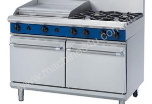 Blue Seal Evolution Series G528B - 1200mm Gas Range Double Static Oven