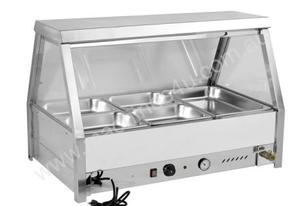 F.E.D. BM6TD Heated Wet Six ' ½ Pan Bain Marie Angled Countertop Display