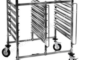 6 Tier Double Pan S/Steel Gastronorm Trolley