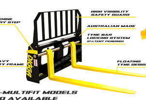 DIGGA SKID STEER FLOATING PALLET FORKS FOR UNIVERS