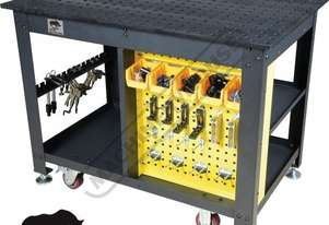 TDQ612075-K1 Rhino Cart Mobile Fixturing Station 1200 x 750 x 910mm (LxWxH) Includes 66 Piece Fixtur