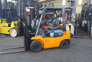 Toyota Forklift 2.5T 4300mm Container Mast Low Hrs