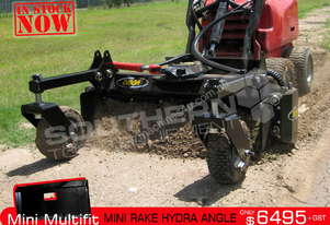 1220mm Mini Power Rake Hydraulic Angle Suit Dingo ATTRAK