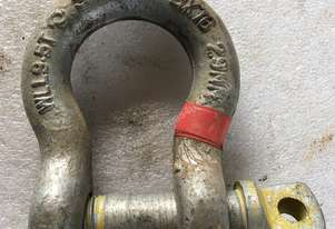 Bow D Shackle 9.5 ton AS approved 29mm pin
