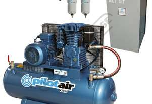 K25/21 Industrial Pilot Air Compressor & Refrigerated Air Dryer Package Deal 150 Litre / 5.5hp 20.5c