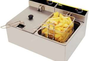 Apuro Double Fryer - 2x5Ltr 2x2.8kW Better Basket-AUS PLUG