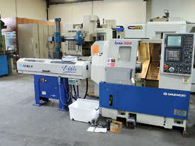 Daewoo Lynx 200B CNC lathe & Iemca V-66LE Barfeed - picture0' - Click to enlarge