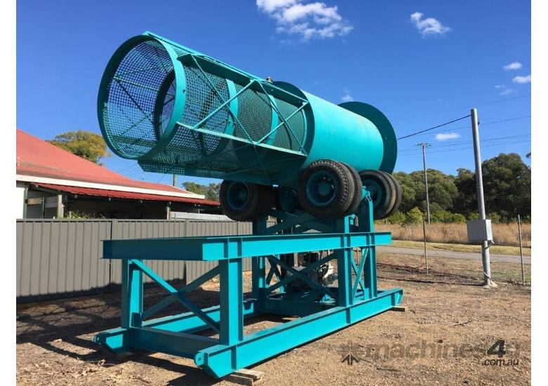 Inverell Foundry Scrubber Trommel with feed chute and Warman pump
