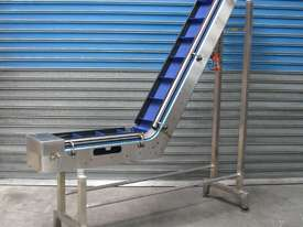 Stainless Steel Elevator Conveyor - 2.2m high - picture0' - Click to enlarge