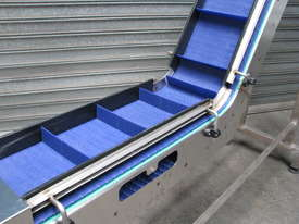 Stainless Steel Elevator Conveyor - 2.2m high - picture1' - Click to enlarge