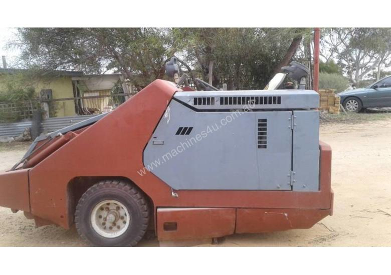 POWERBOSS ride on sweeper complete  & operational