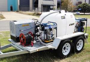 Hot water Pressure washer/Water Pump Combo Trailer